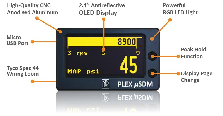 PLEX μSDM | New 2 4'' OLED Micro Dash Display & Logger