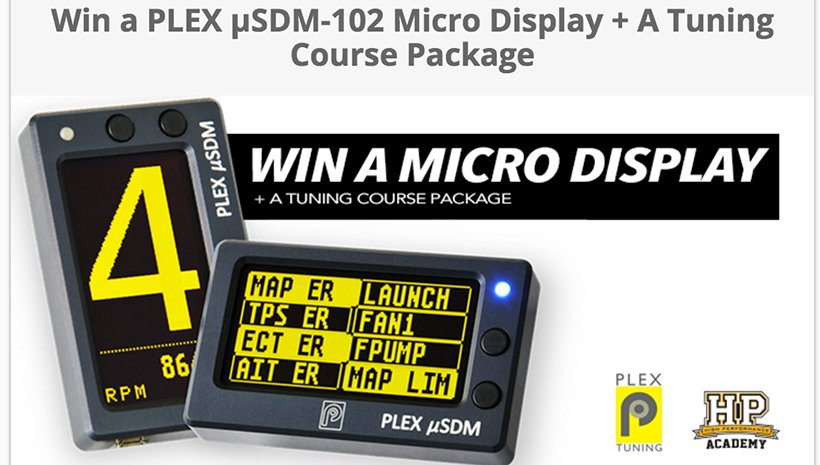 HPAcademy Promo: Win a PLEX uSDM-102 Pro plus an HPA Tuning Course